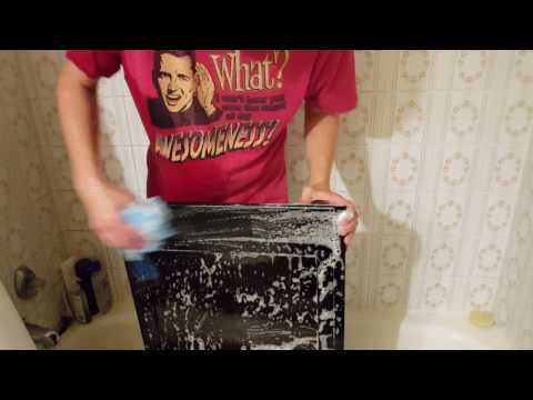 How to clean dirty fingerprints off of an old television screen
