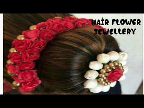 D.i.y how to make hair band /veni/Gajra making 2018