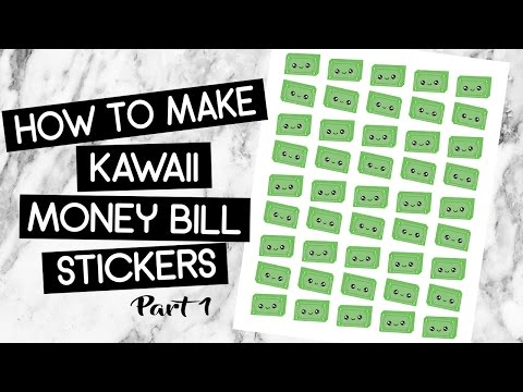 PART I: How To Make Kawaii Money Bill Stickers In Photoshop|MissDebbieDIY