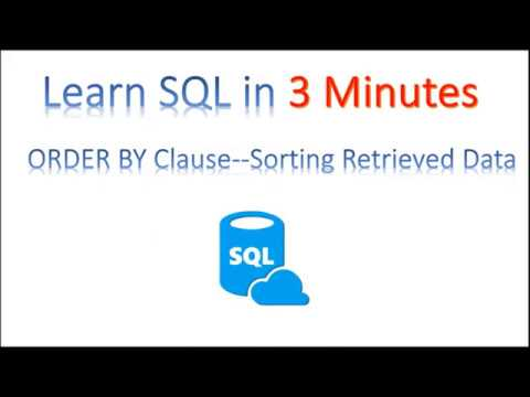 【Learn SQL in 3 minutes】--Using ORDER BY Clause examples