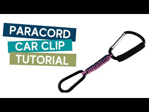 HOW TO MAKE A CAR CLIP/BAG HOLDER PARACORD TUTORIAL