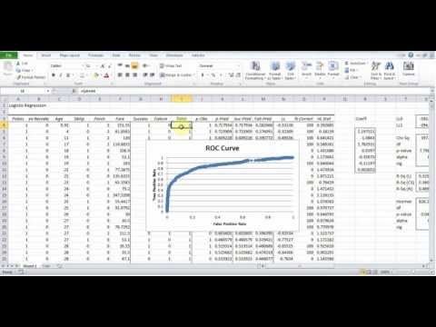 Logistic Regression Using Excel