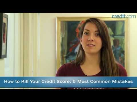 How to NOT Kill Your Credit Score: 5 Most Common Mistakes