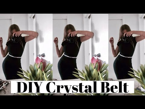 DIY CRYSTAL BELT! Super Quick & Easy!