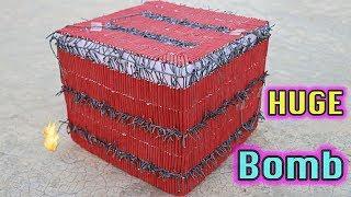HUGE CRACKERS BOMB MADE USING 2500 SMALL BOM | DIWALI CRACKERS EXPERIMENTS | MAKING DESI CRACKERS