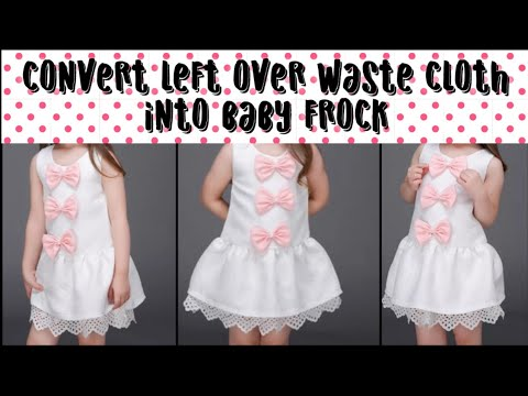 Cute Baby Frock from Leftover Fabric/ Reuse waste cloth(Hindi)