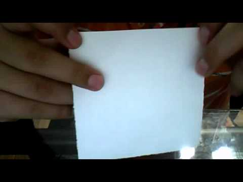 How to make paper snowball