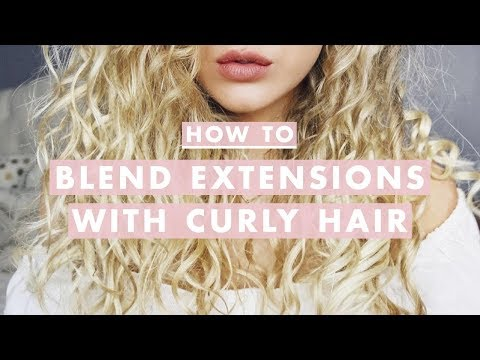 How To Blend Hair Extensions With Curly Hair