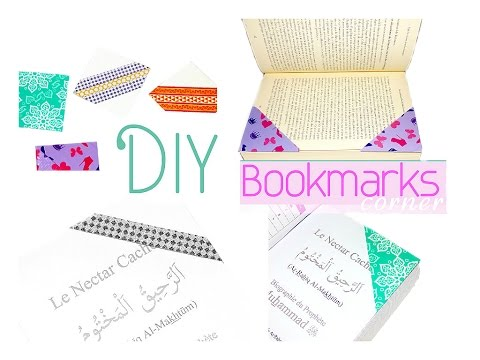 DIY Corner Bookmarks Washi Tape / Marque pages