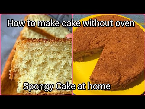 How to make cake without oven: Vanilla cake made in pressure cooker : in Kannada