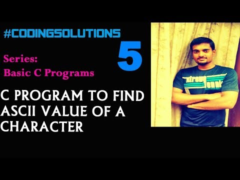 5-C Program to Find ASCII Value of a Character
