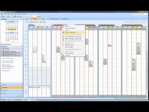 Opening a Room Calendar in Outlook 2007
