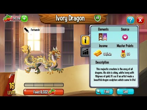Dragon City Breeding Tutorial | How To Breed IVORY DRAGON & LEGACY DRAGON
