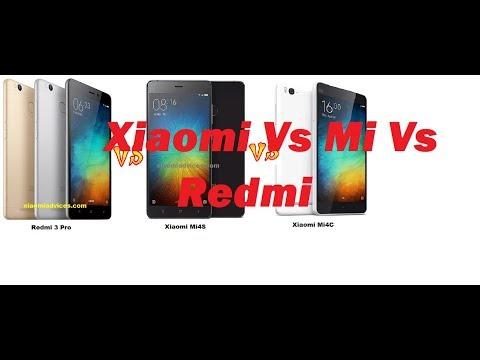 Xiaomi Vs Mi Vs Redmi
