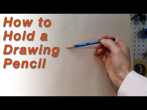 How to Hold a Drawing Pencil