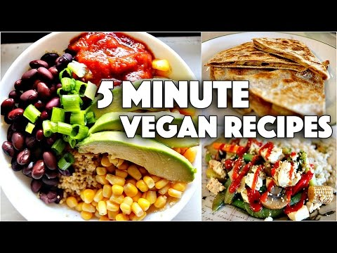 EASY VEGAN 5 MINUTE RECIPES // FOR COLLEGE STUDENTS
