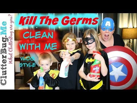 How To Kill All The Germs - Clean With Me Vlog Style