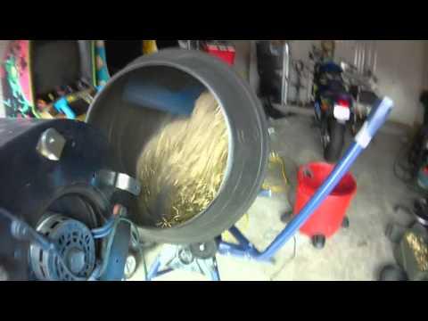 Brass Tumbler made from a cement mixer