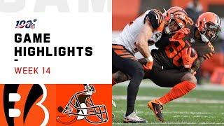 Bengals vs. Browns Week 14 Highlights | NFL 2019