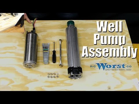 How to Assemble a Submersible Well Pump and Motor