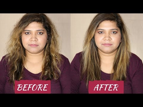 HOW I STRAIGHTEN MY THICK and CURLY/WAVY INDIAN HAIR - TUTORIAL | 2018