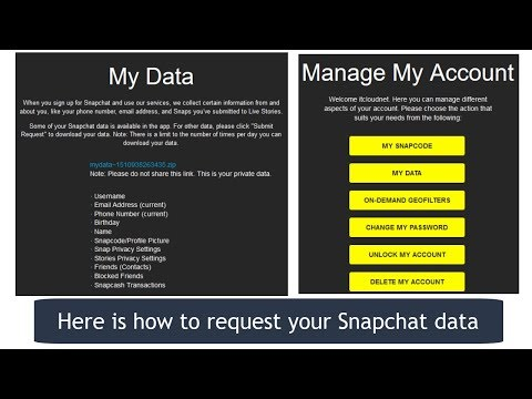 How to Request Your Snapchat My Data | Accessing Your Snapchat Data