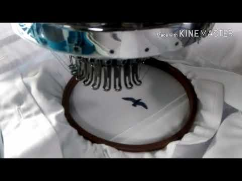 making bird with embroidery machine