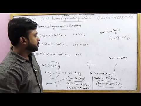 Properties of Inverse Trigonometric Functions | Ex 2.2 Intro NCERT XII Math's (Part 2)