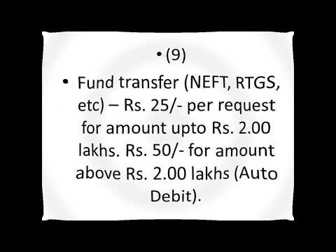 SBI New Charges from Jan 2018