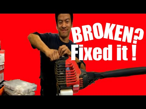 Troy Built 4-Cycle Trimmer Repair Tutorial FULL UNCUT