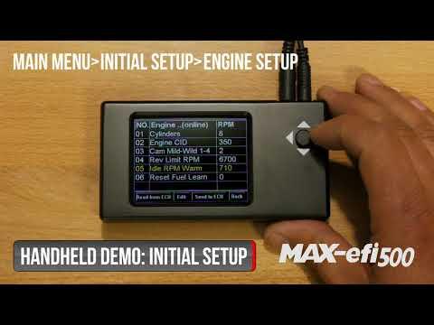 Summit Racing MAX-efi 500 Initial Setup Tutorial