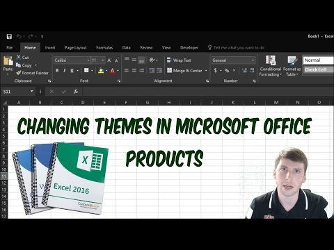 How To Change The Theme On Microsoft Office Products 2016 Dark Theme