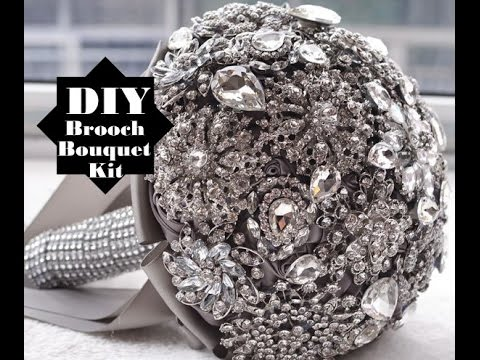 Easy How To DIY Brooch Bouquet Kit Low Cost No Wires Wedding Project