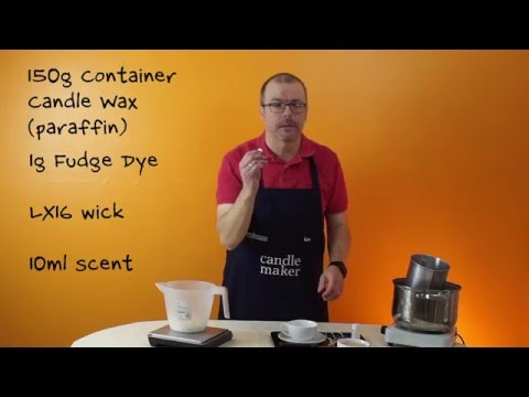 How to Make A Basic Container Candle For Beginners