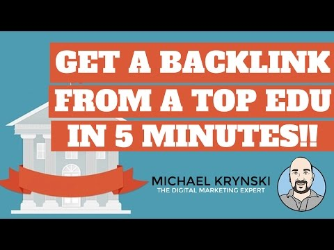 How to Get a Backlink From One of the Top EDU Universities in the World - Step by Step SEO Tutorial
