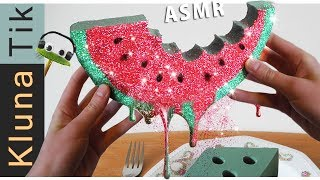 FLORAL FOAM WATERMELON for LUNCH! | Kluna Tik Dinner | ASMR eating sounds no talk espuma floral