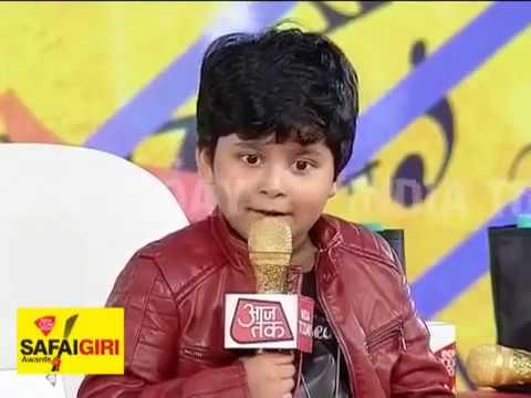 Saregamapa Little Champ JAYAS KUMAR at AAJ TAK INDIA TODAY Sweta Singh  Reporter