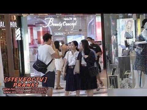 Trolling Thai Women For Fun In Bangkok Thailand | Shy Awkward Thai Wife Prank
