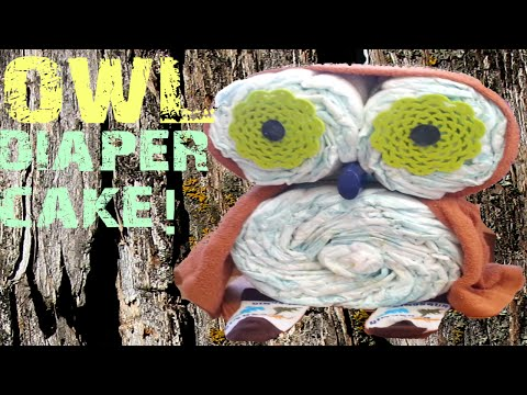 Owl Diaper Cake Creation In Under 4 Minutes