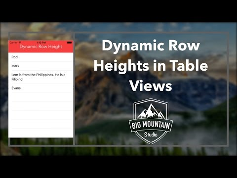 How to make Dynamic Row Height in a TableView (iOS, Swift 2.2, Xcode 7)