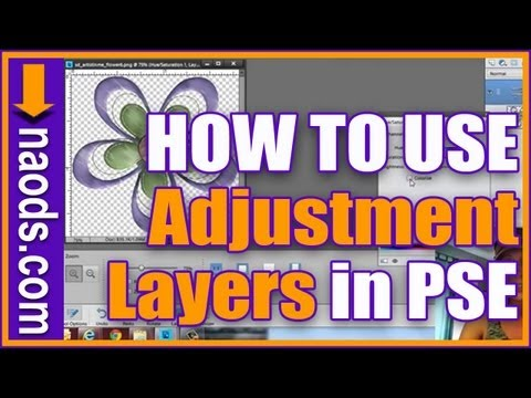 Learn Photoshop Elements - How to use Adjustment Layers