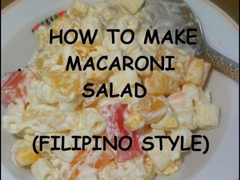 How to cook MACARONI SALAD (Filipino Style)