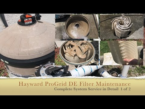 Hayward Pro Grid DE Filter Cleaning - Complete Process - 1 of 2