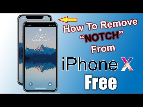 How to Remove Notch From iPhone X For Free   Without Notch Remover App