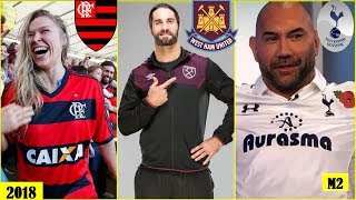 20 WWE WRESTLERS & Their Favourite Football (Soccer) Clubs 2018 [HD]