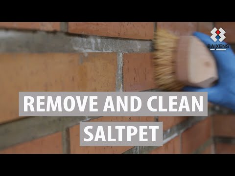 Remove and clean saltpetre
