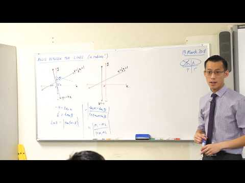 Angle Between Two Lines (1 of 2: Calculating with radians)