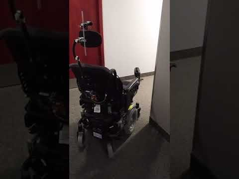 Self driving chair, alpha version, hallway and turn
