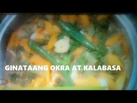 Ginataang Okra at kalabasa (Okra & Squash in Coconut milk)