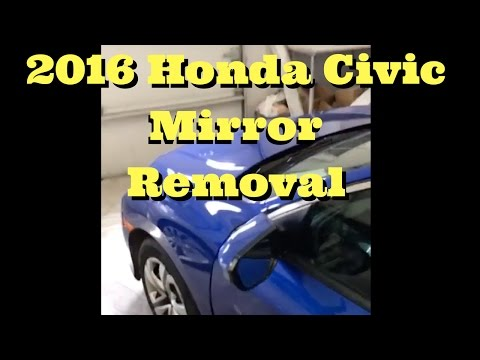 2016 2017 2018  HONDA CIVIC----How To Remove Replace Install Mirror